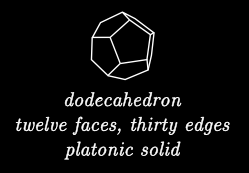 Platonic Solids front